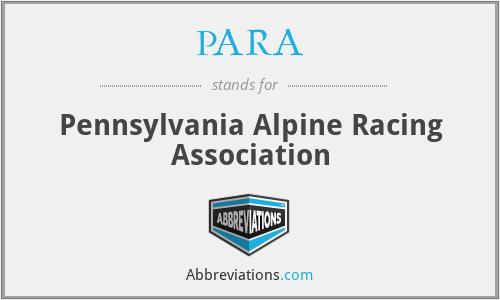PARA - Pennsylvania Alpine Racing Association