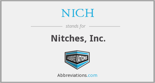 NICH - Nitches, Inc.