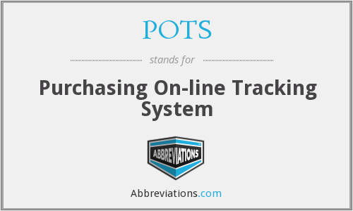 POTS - Purchasing On-line Tracking System