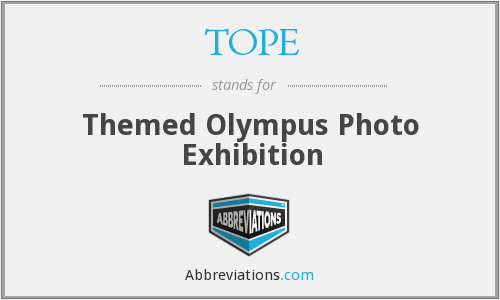 TOPE - Themed Olympus Photo Exhibition