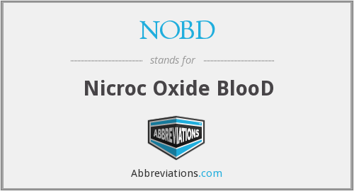 What does NOBD stand for?