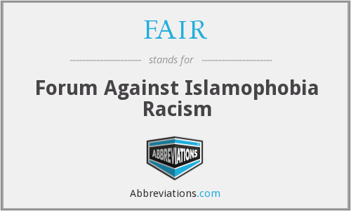 FAIR - Forum Against Islamophobia Racism