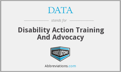 DATA - Disability Action Training And Advocacy