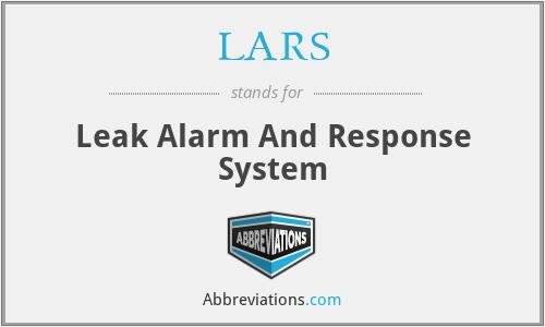 LARS - Leak Alarm And Response System