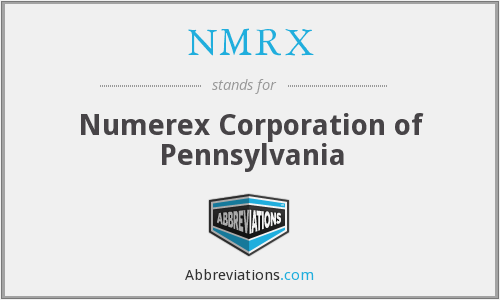 What does NMRX stand for?