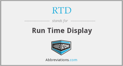 RTD - Run Time Display