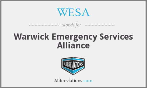 WESA - Warwick Emergency Services Alliance