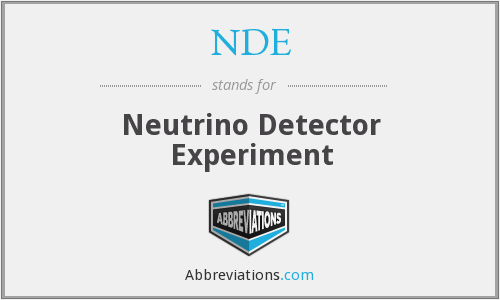 NDE - Neutrino Detector Experiment