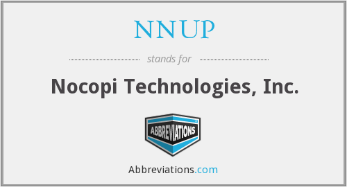 What does NNUP stand for?
