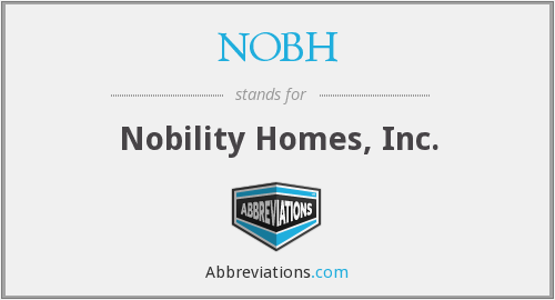 NOBH - Nobility Homes, Inc.