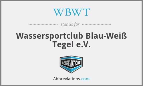 WBWT - Wassersportclub Blau-Weiß Tegel e.V.