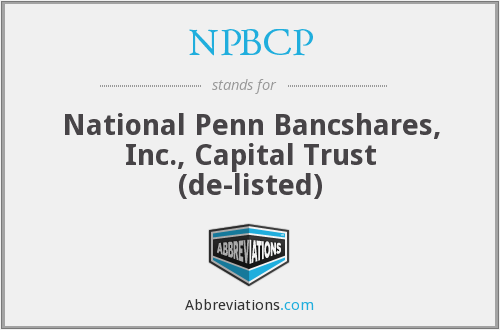 What does NPBCP stand for?