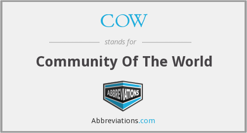 COW - Community Of The World