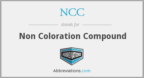 NCC - Non Coloration Compound