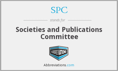 SPC - Societies and Publications Committee