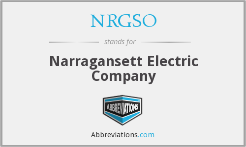 What does NRGSO stand for?