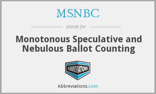MSNBC - Monotonous Speculative and Nebulous Ballot Counting