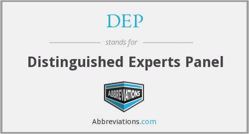 DEP - Distinguished Experts Panel
