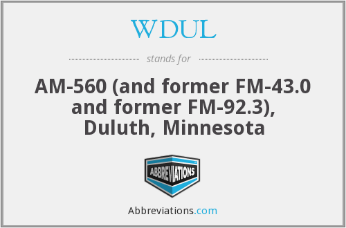 What does WDUL stand for?