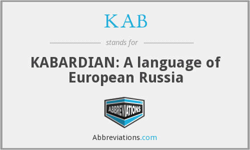 KAB - KABARDIAN: A language of European Russia