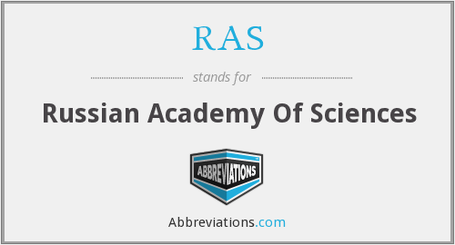 What does .RAS stand for?