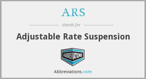 ARS - Adjustable Rate Suspension