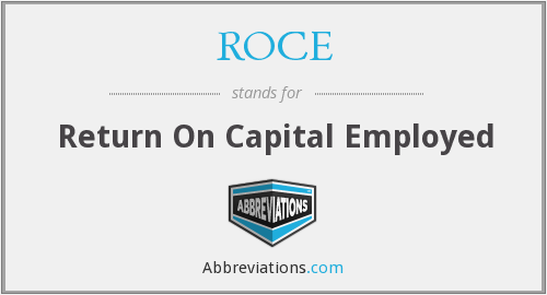 What does ROCE stand for?