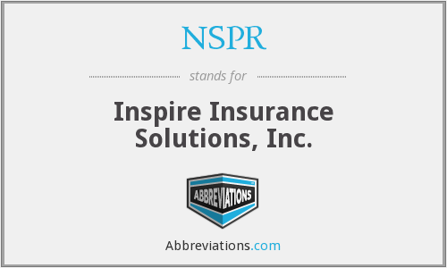 What does NSPR stand for?