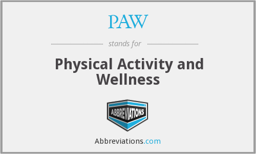 PAW - Physical Activity and Wellness