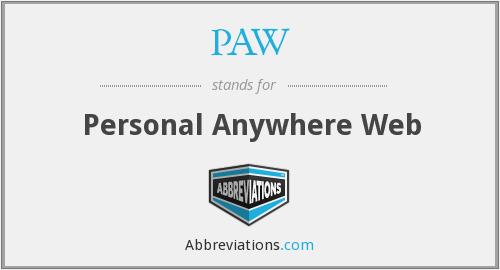 PAW - Personal Anywhere Web