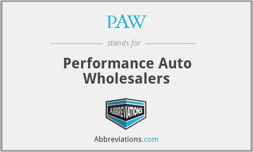 PAW - Performance Auto Wholesalers