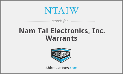 What does NTAIW stand for?