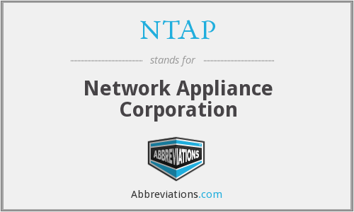 What does NTAP stand for?