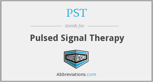 PST - Pulsed Signal Therapy