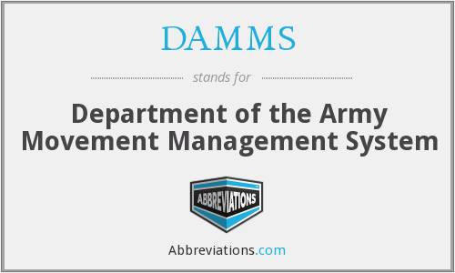 DAMMS - Department of the Army Movement Management System