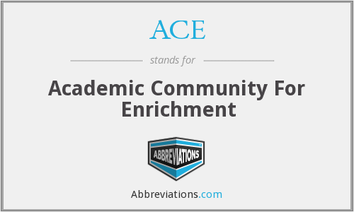 ACE - Academic Community For Enrichment