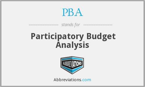 PBA - Participatory Budget Analysis