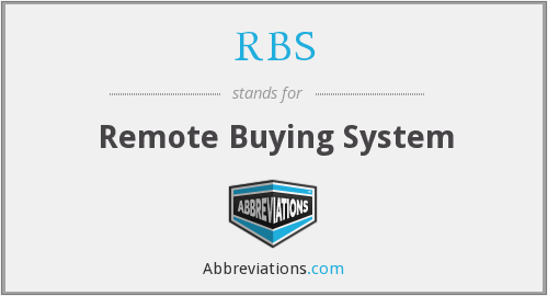 RBS - Remote Buying System