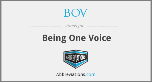 BOV - Being One Voice