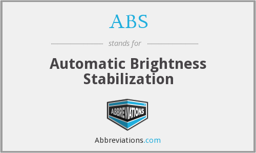 ABS - Automatic Brightness Stabilization