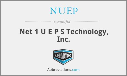NUEP - Net 1 U E P S Technology, Inc.