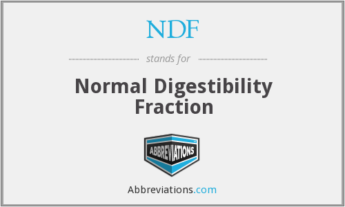 NDF - Normal Digestibility Fraction