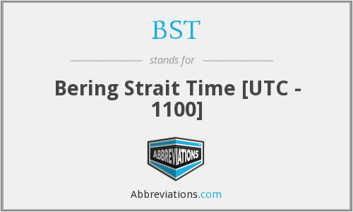 BST - Bering Strait Time [UTC - 1100]