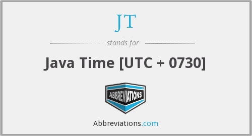 JT - Java Time [UTC + 0730]