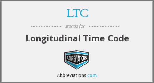 LTC - Longitudinal Time Code