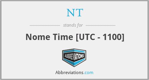 NT - Nome Time [UTC - 1100]