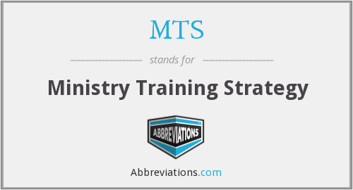 MTS - Ministry Training Strategy