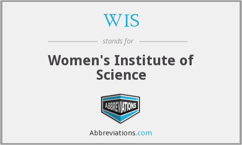 WIS - Women's Institute of Science