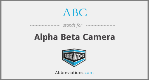 ABC - Alpha Beta Camera