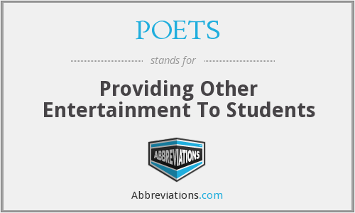 POETS - Providing Other Entertainment To Students